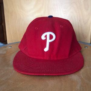 Flat brim Phillies hat